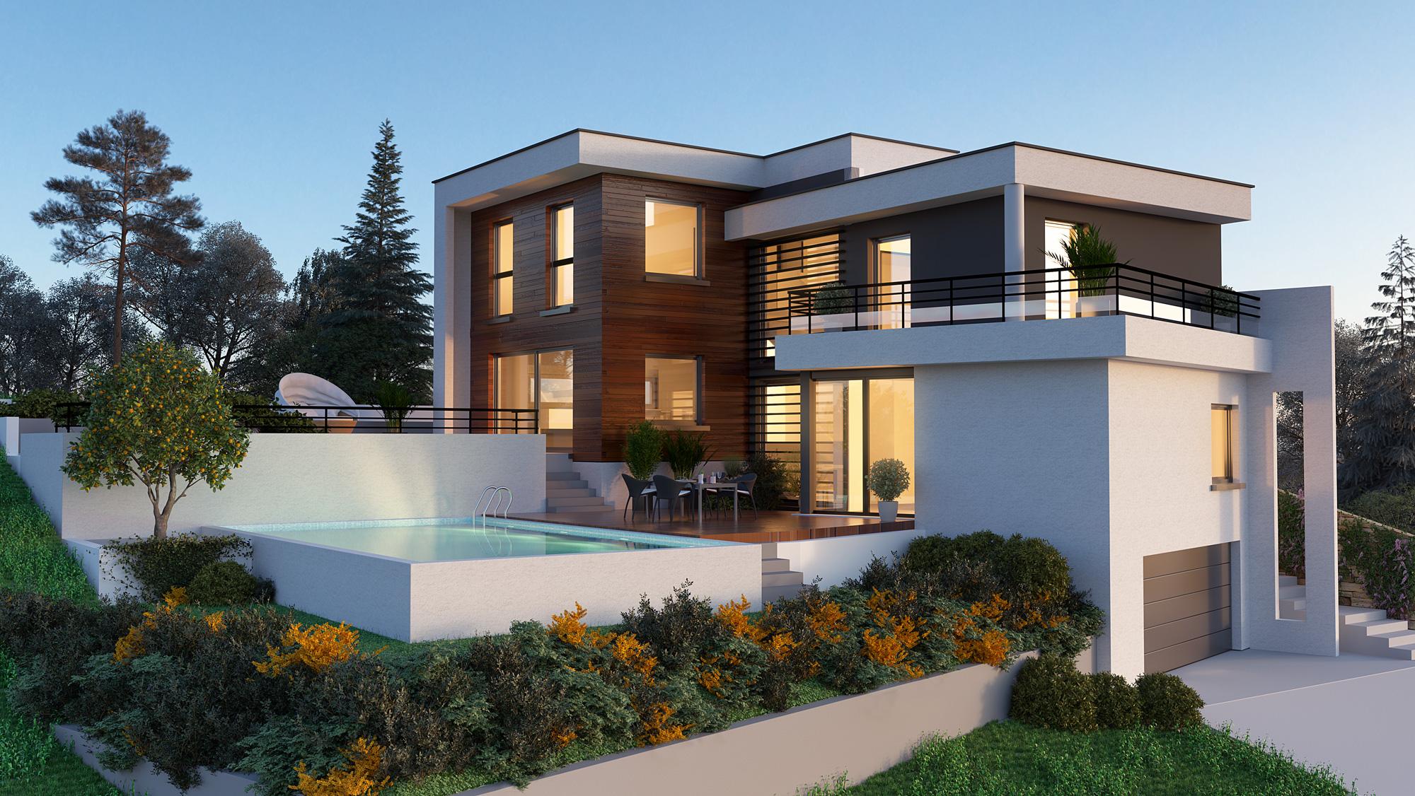 Maisons + Terrains du constructeur PERSPECTIVE • 150 m² • HANGENBIETEN