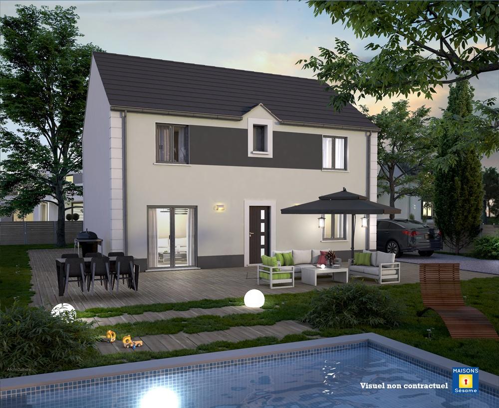 Maisons + Terrains du constructeur COFIDIM MAISONS SESAME • 100 m² • MERY SUR OISE
