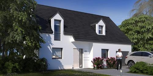 Maisons + Terrains du constructeur HABITAT CONCEPT LA RIVIERE ST SAUVEUR • 93 m² • SAINT MARTIN SAINT FIRMIN