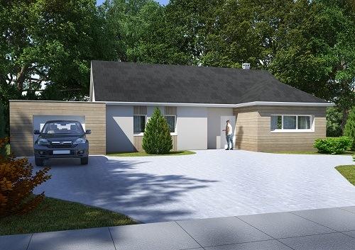 Maisons + Terrains du constructeur HABITAT CONCEPT LA RIVIERE ST SAUVEUR • 105 m² • SAINT JULIEN LE FAUCON