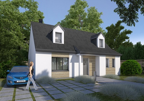 Maisons + Terrains du constructeur HABITAT CONCEPT LA RIVIERE ST SAUVEUR • 111 m² • EPAIGNES