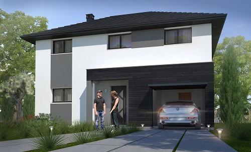 Maisons + Terrains du constructeur HABITAT CONCEPT LA RIVIERE ST SAUVEUR • 113 m² • PONT AUDEMER