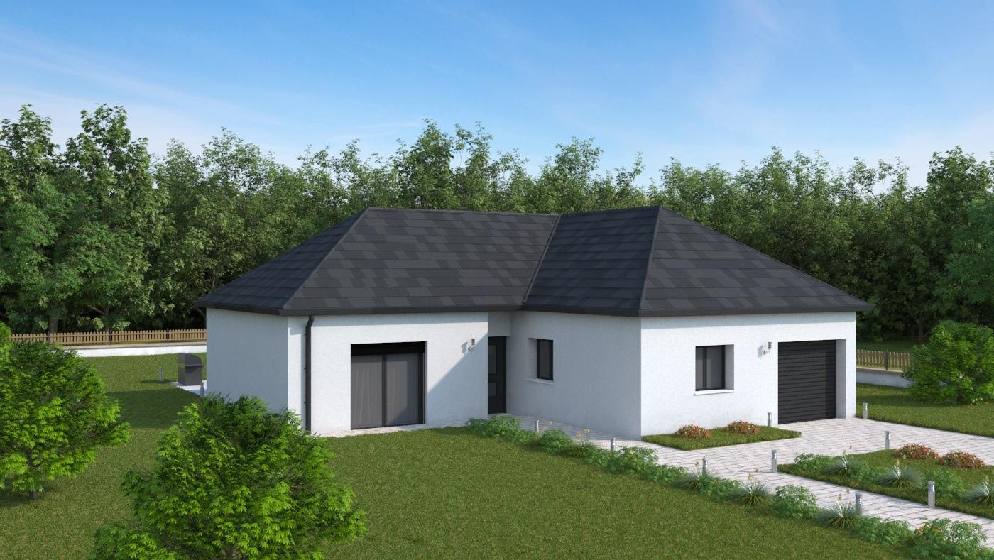 Maisons + Terrains du constructeur HABITAT CONCEPT LA RIVIERE ST SAUVEUR • 92 m² • PONT AUDEMER