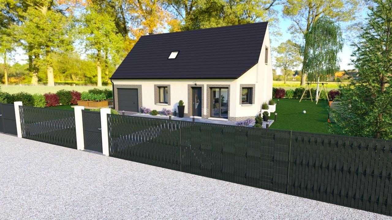 Maisons + Terrains du constructeur HABITAT CONCEPT LA RIVIERE ST SAUVEUR • 102 m² • BERVILLE SUR MER