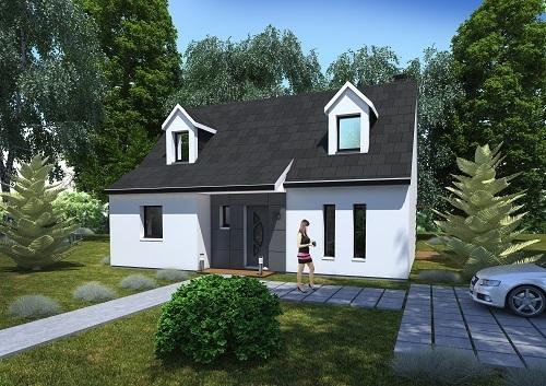 Maisons + Terrains du constructeur HABITAT CONCEPT LA RIVIERE ST SAUVEUR • 97 m² • BERVILLE SUR MER