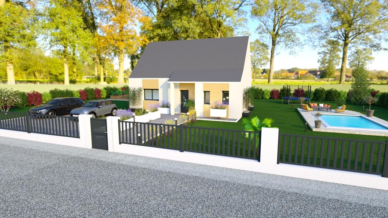 Maisons + Terrains du constructeur HABITAT CONCEPT LA RIVIERE ST SAUVEUR • 111 m² • BERVILLE SUR MER
