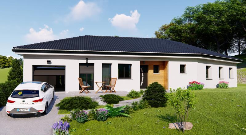 Maisons du constructeur Design Batiment Maximmo • 124 m² • SAINT ALBAN DE ROCHE