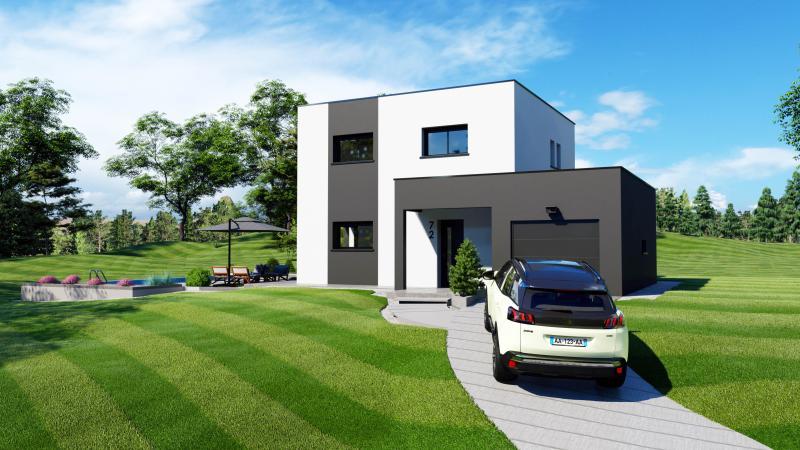 Maisons du constructeur DESIGN BATIMENT MAX IMMO • 115 m² • SAINT GEOIRE EN VALDAINE