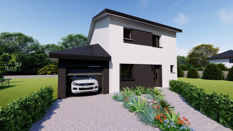 Maisons du constructeur Design Batiment Maximmo • 100 m² • LE PONT DE BEAUVOISIN