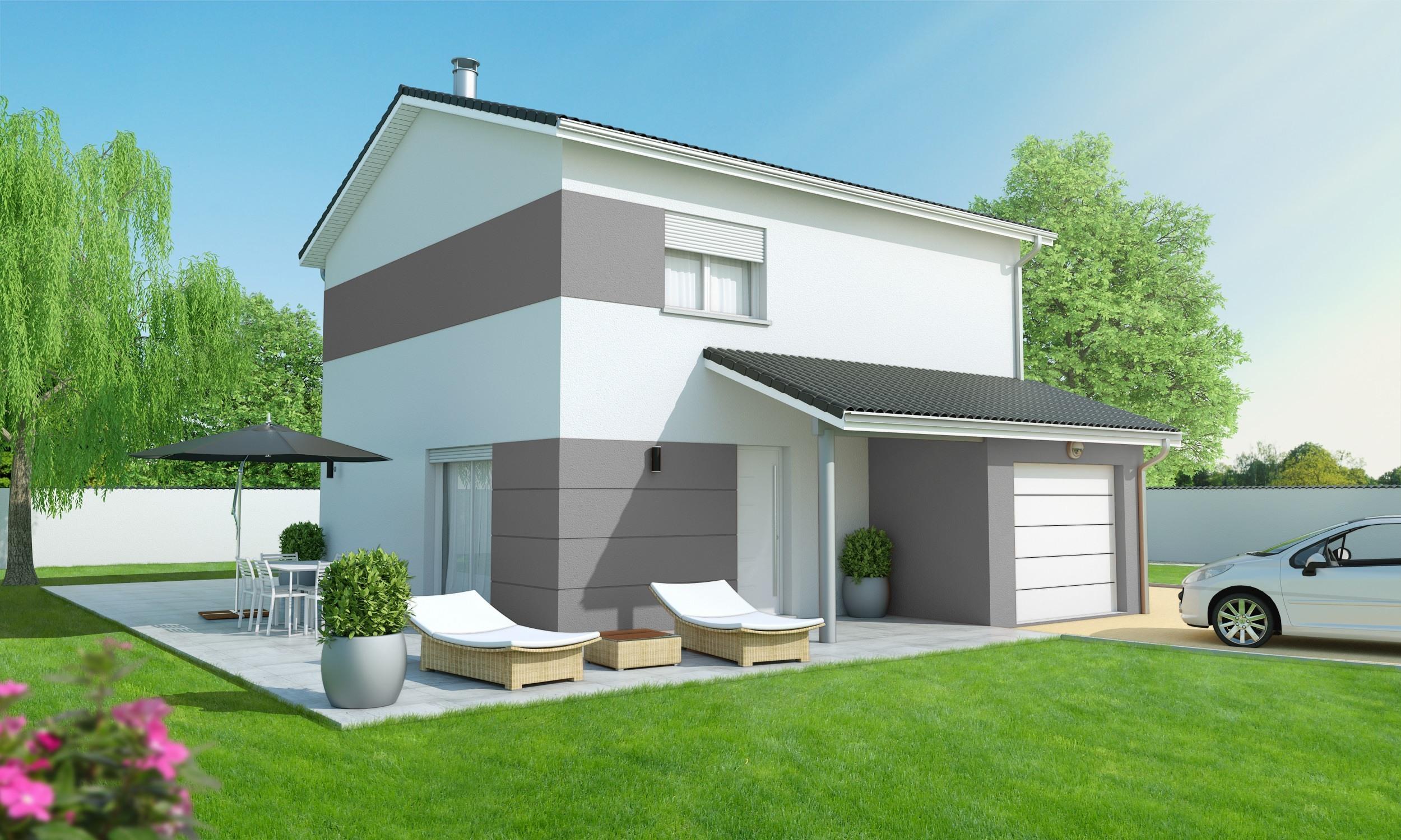 Maisons + Terrains du constructeur MAISONS AXIAL • 110 m² • SAINT VERAND