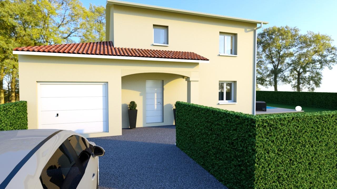 Maisons + Terrains du constructeur MAISONS AXIAL • 100 m² • TAPONAS
