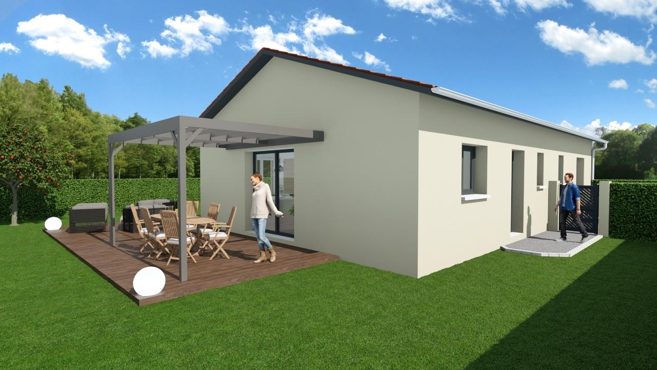 Maisons + Terrains du constructeur MAISONS AXIAL • 90 m² • TAPONAS