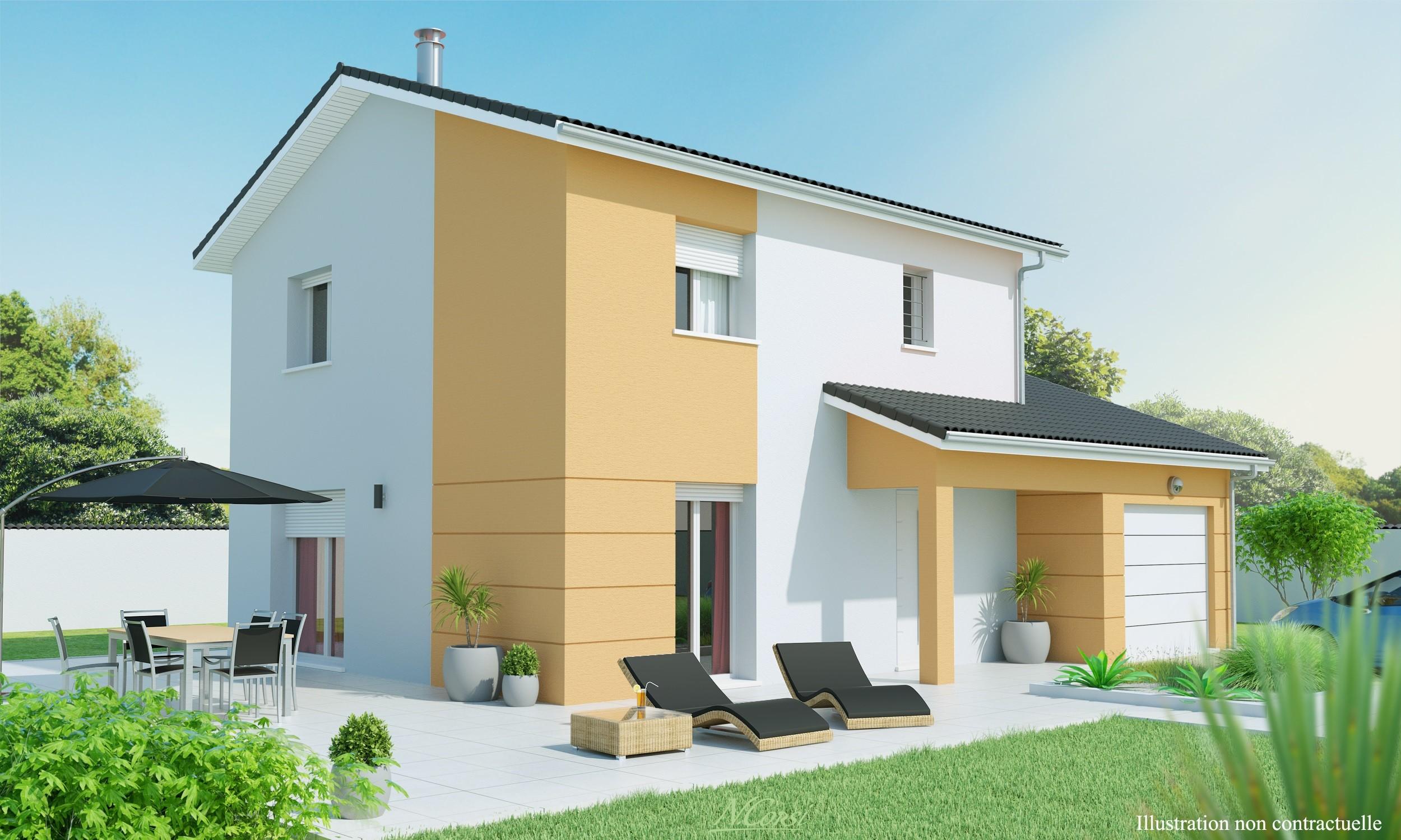 Maisons + Terrains du constructeur MAISONS AXIAL • 90 m² • JULIENAS