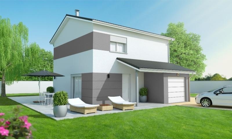Maisons + Terrains du constructeur MAISONS AXIAL • 90 m² • LA CHAPELLE DE LA TOUR
