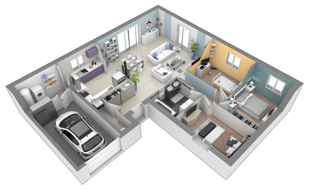 Maisons + Terrains du constructeur MAISONS AXIAL • 90 m² • BELMONT