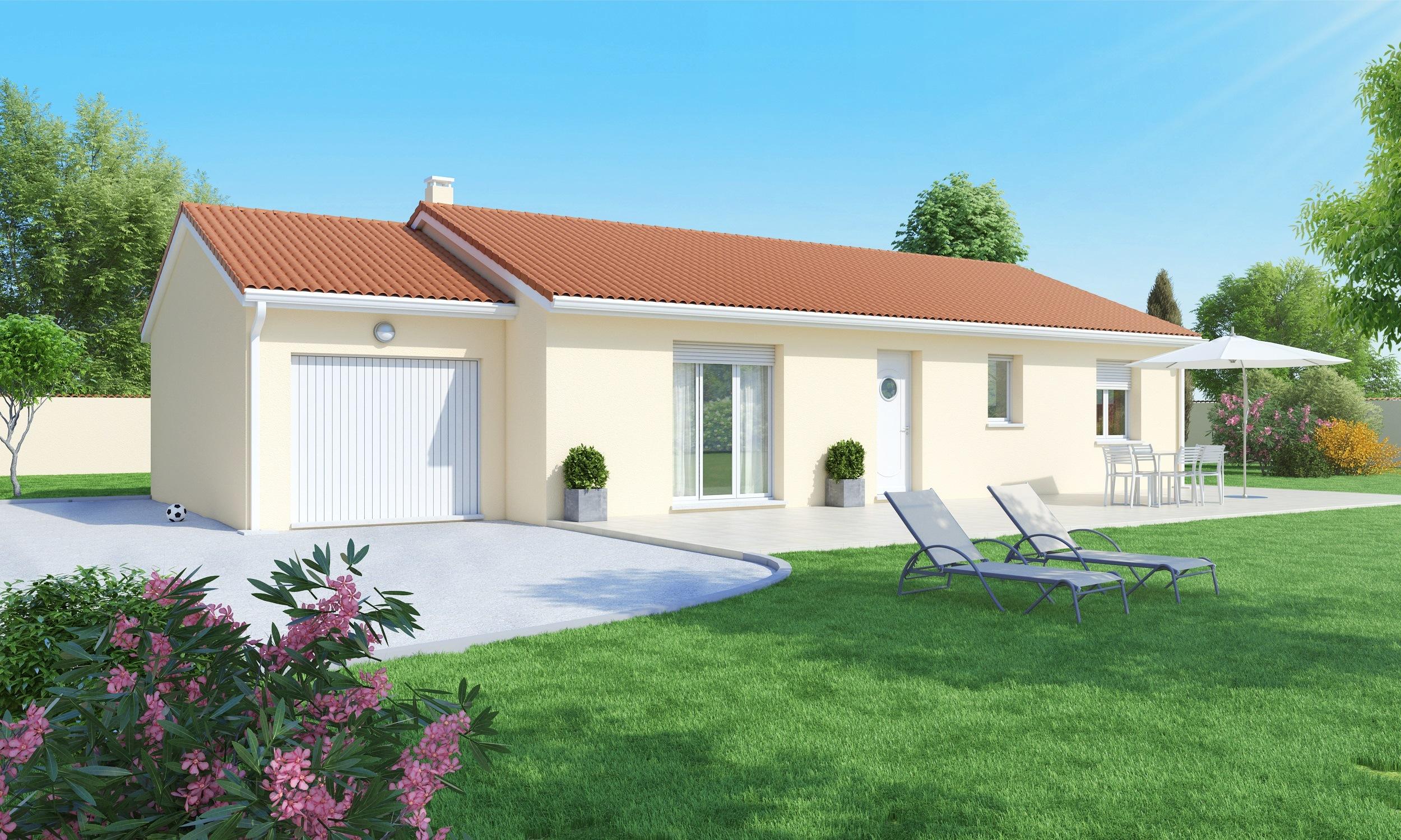 Maisons + Terrains du constructeur MAISONS AXIAL • 80 m² • LA TOUR DU PIN