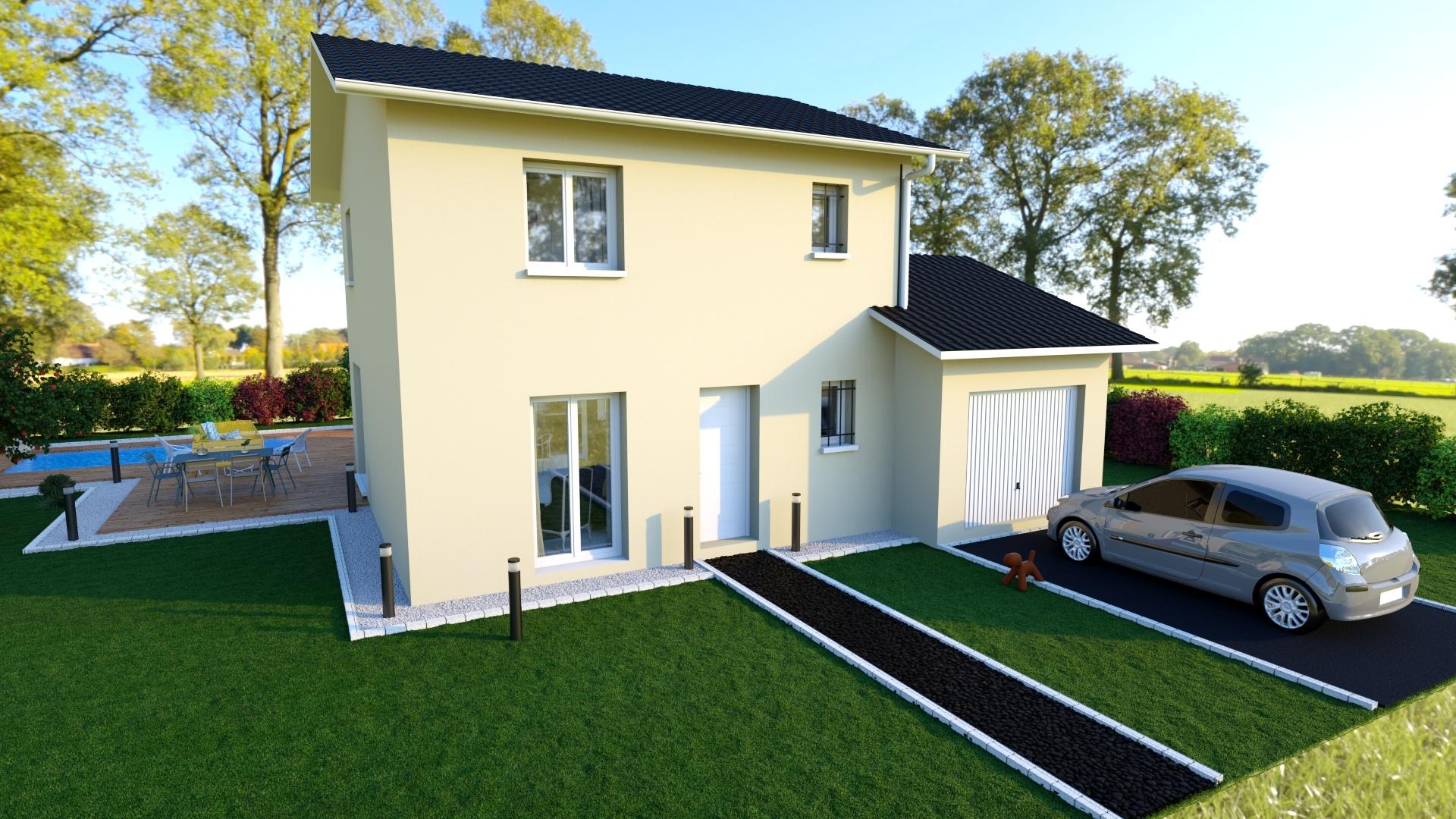 Maisons + Terrains du constructeur MAISONS AXIAL • 91 m² • LE GRAND LEMPS