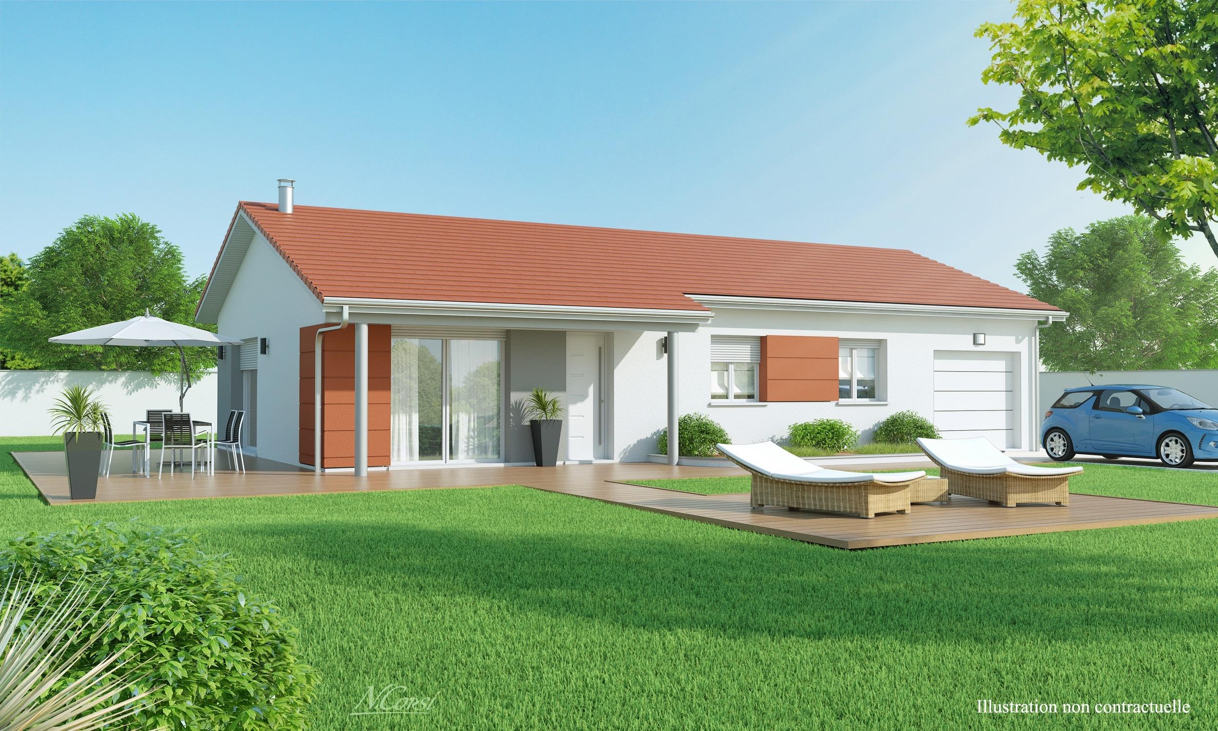 Maisons + Terrains du constructeur MAISONS AXIAL • 90 m² • ARANDON