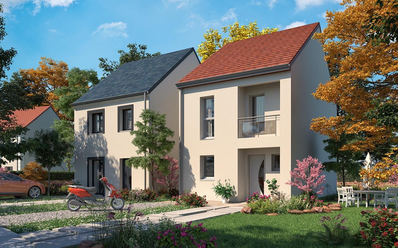 Maisons + Terrains du constructeur RESIDENCES PICARDES SOISSONS • 86 m² • CHATEAU THIERRY