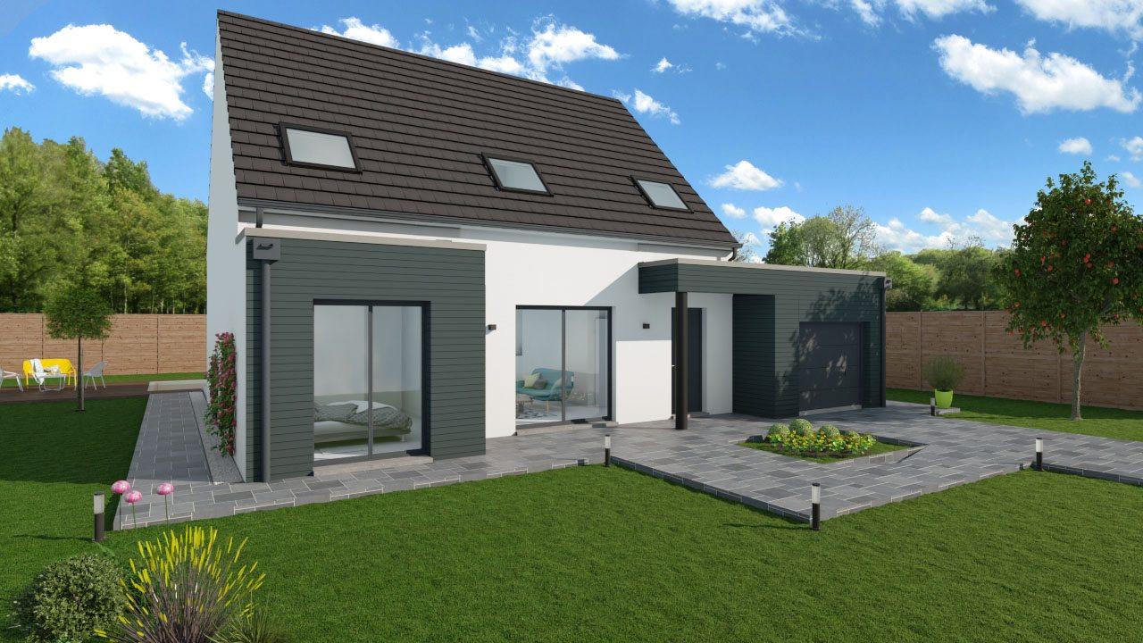 Maisons + Terrains du constructeur MAISONS PHENIX • 122 m² • JOUY LE MOUTIER