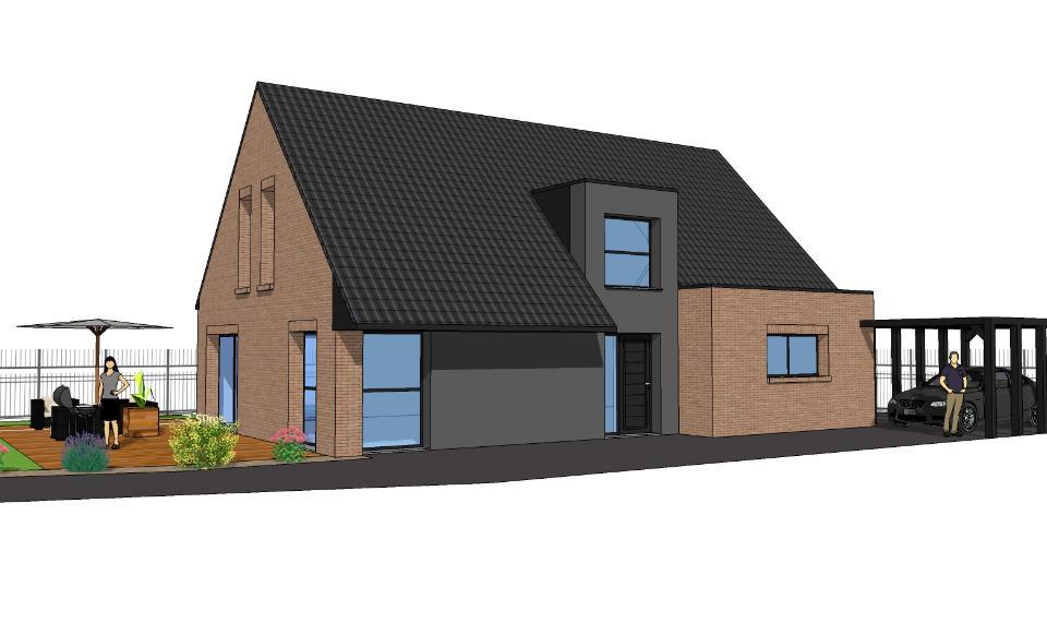 Maisons + Terrains du constructeur MAISONS FRANCE CONFORT • 130 m² • ANNOEULLIN