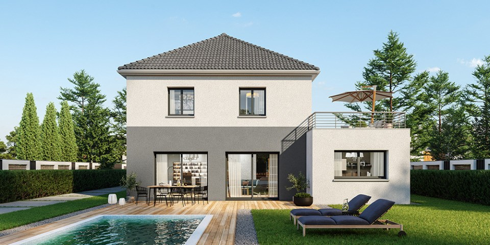 Maisons + Terrains du constructeur MAISONS FRANCE CONFORT • 160 m² • LA CHAPELLE D'ARMENTIERES