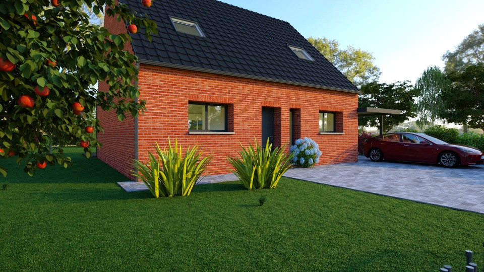 Maisons + Terrains du constructeur MAISONS FRANCE CONFORT • 77 m² • FRELINGHIEN