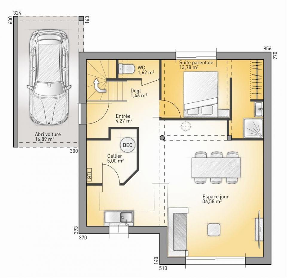 Maisons + Terrains du constructeur MAISONS FRANCE CONFORT • 93 m² • ONNAING