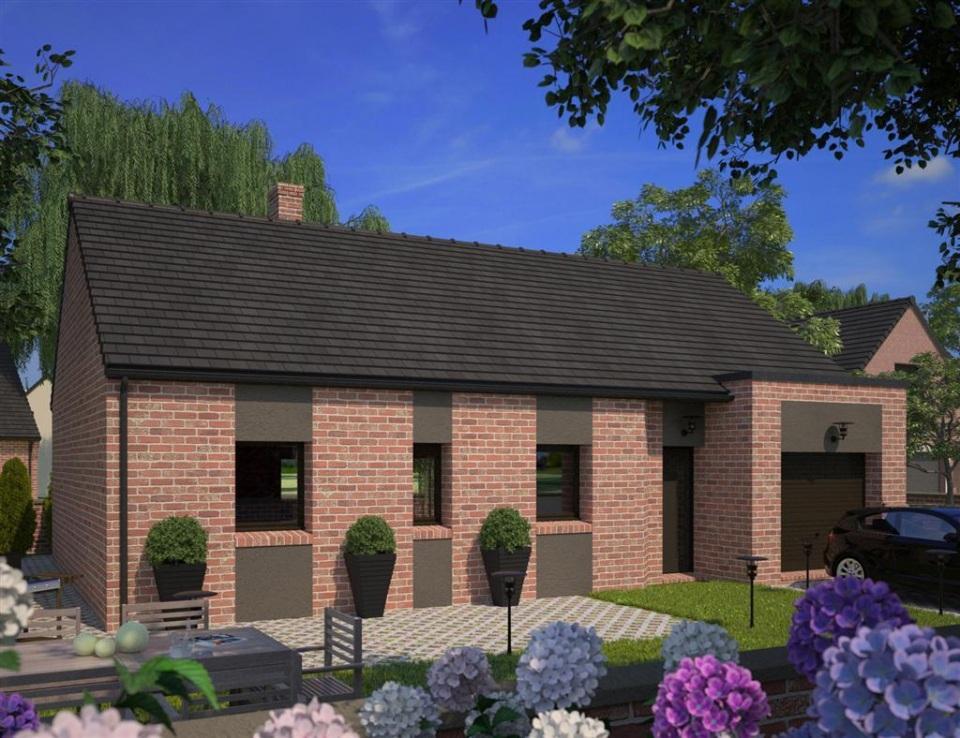 Maisons + Terrains du constructeur MAISONS FRANCE CONFORT • 75 m² • HERGNIES