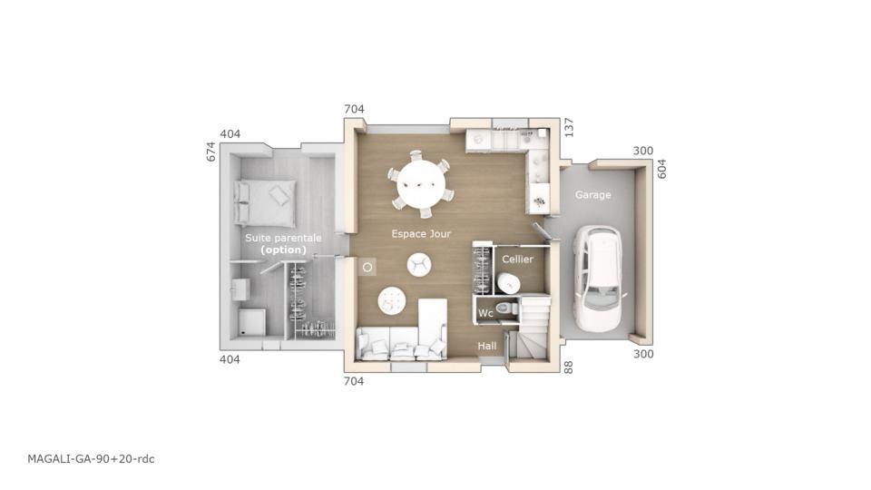 Maisons + Terrains du constructeur LES MAISONS DE MANON • 90 m² • SAINT MITRE LES REMPARTS