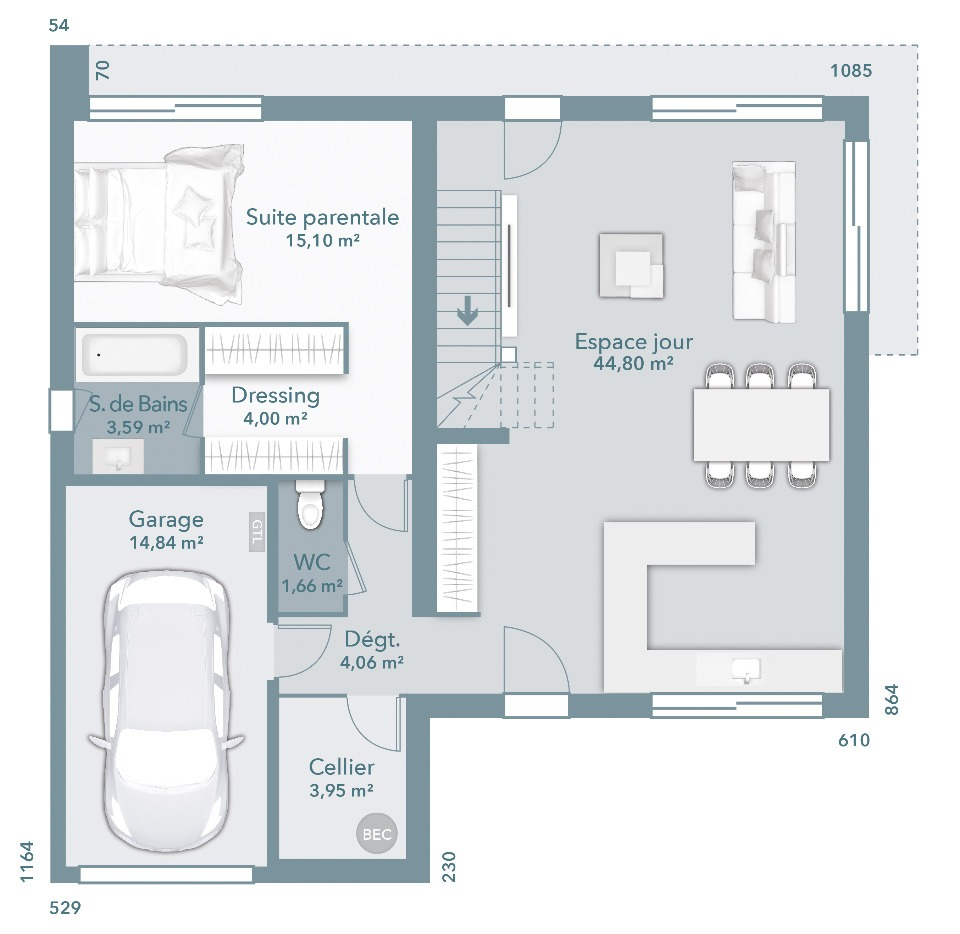 Maisons + Terrains du constructeur MAISONS FRANCE CONFORT • 116 m² • CARMAUX