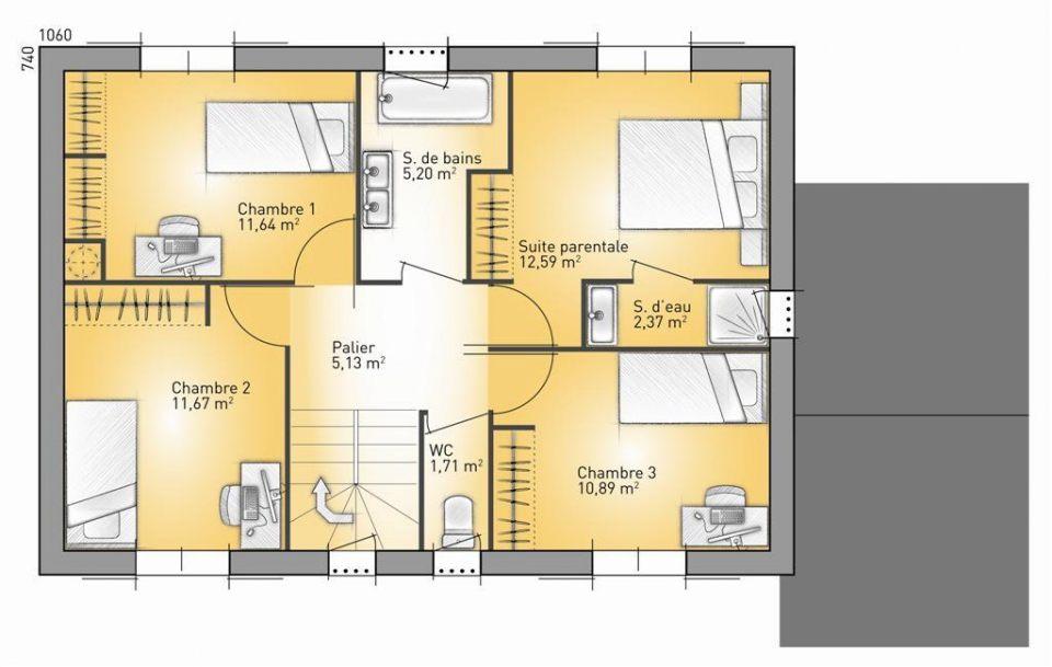 Maisons + Terrains du constructeur MAISONS FRANCE CONFORT • 125 m² • SAINT CEZERT