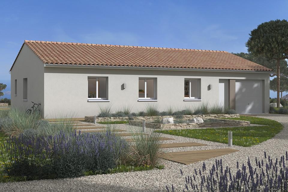 Maisons + Terrains du constructeur MAISONS FRANCE CONFORT • 90 m² • DAUX