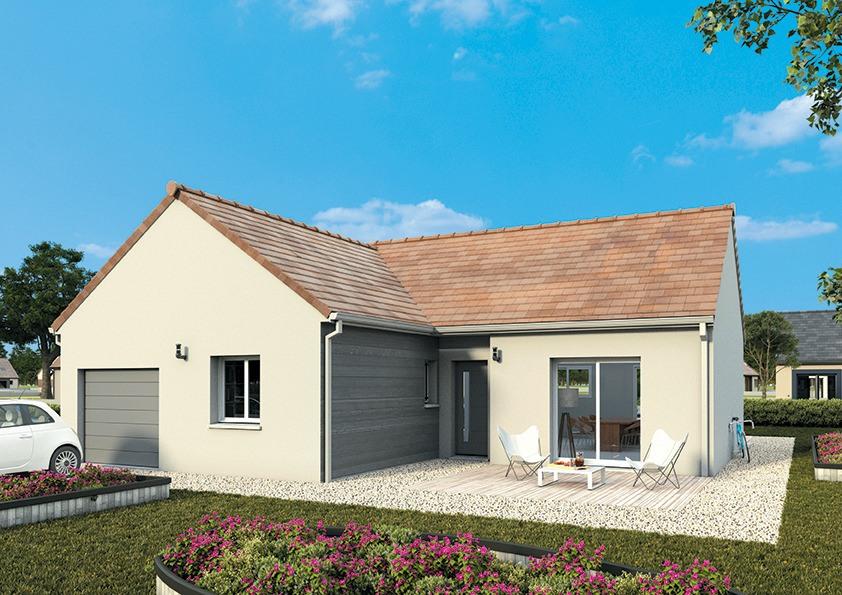 Maisons + Terrains du constructeur MAISONS FRANCE CONFORT • 80 m² • SAINT AUBIN DES BOIS