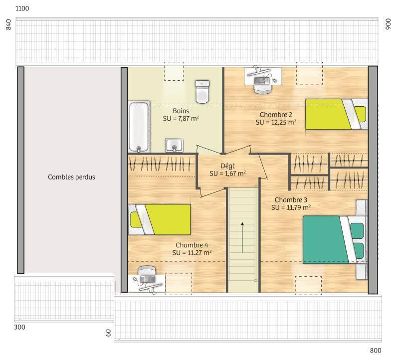 Maisons + Terrains du constructeur MAISONS FRANCE CONFORT • 89 m² • JOUY