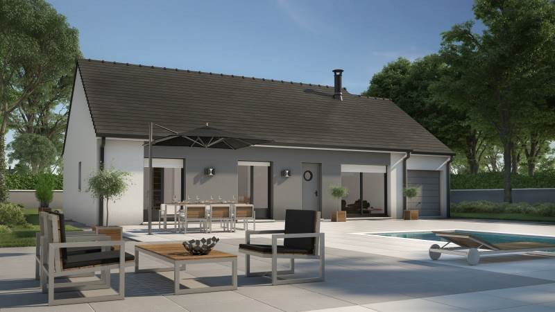 Maisons + Terrains du constructeur MAISONS FRANCE CONFORT • 73 m² • AMILLY
