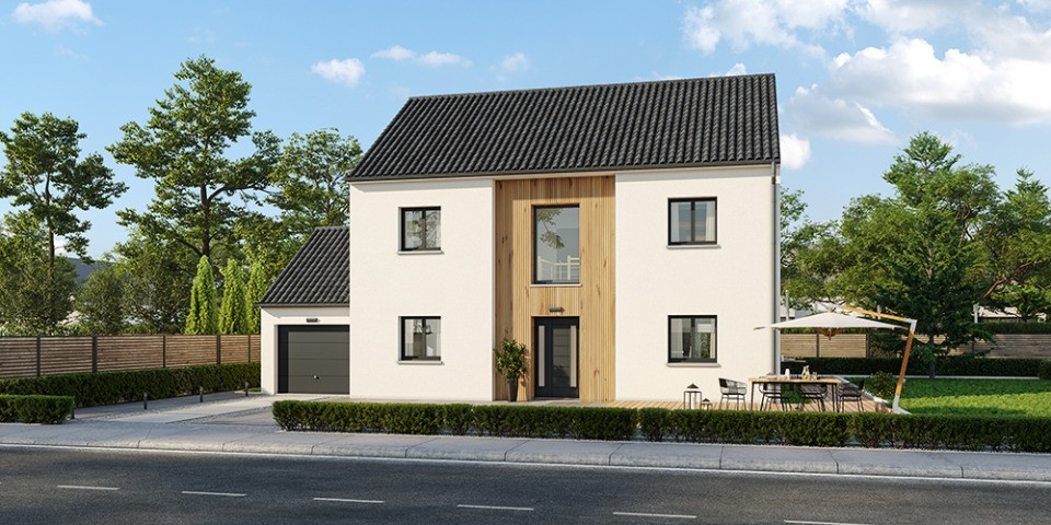 Maisons + Terrains du constructeur MAISONS FRANCE CONFORT • 140 m² • GELLAINVILLE