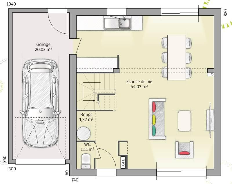 Maisons + Terrains du constructeur MAISONS FRANCE CONFORT • 91 m² • DREUX