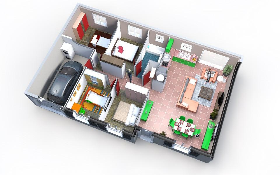 Maisons + Terrains du constructeur OC RESIDENCES • 95 m² • LESCURE D'ALBIGEOIS