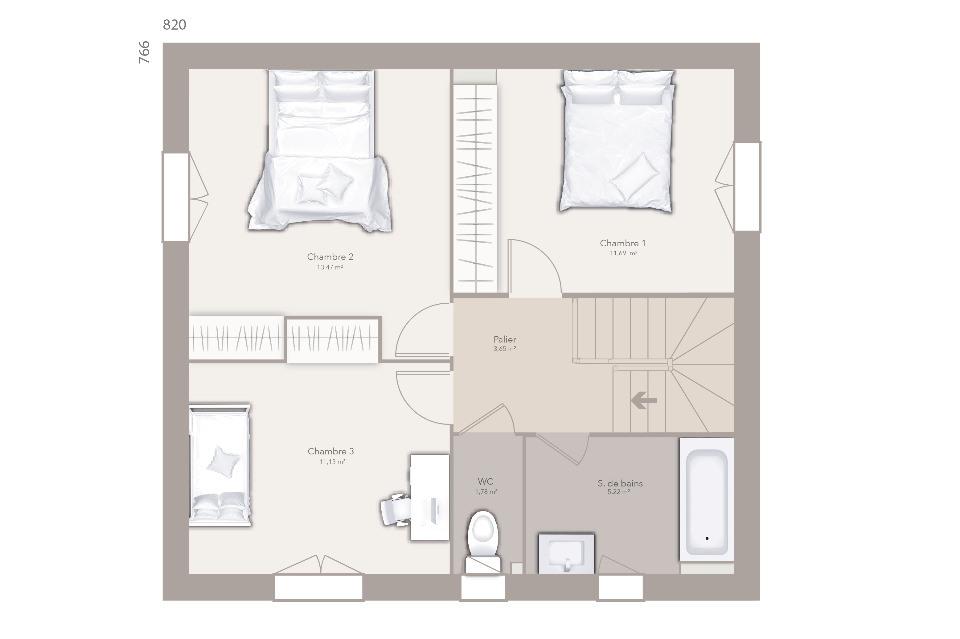 Maisons + Terrains du constructeur MAISONS FRANCE CONFORT • 90 m² • CHAPAREILLAN