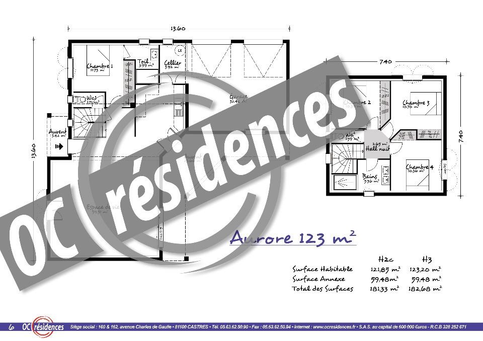 Maisons + Terrains du constructeur OC RESIDENCES • 120 m² • AMBRES