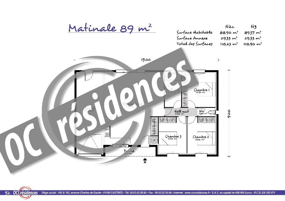 Maisons + Terrains du constructeur OC RESIDENCES • 90 m² • AMBRES
