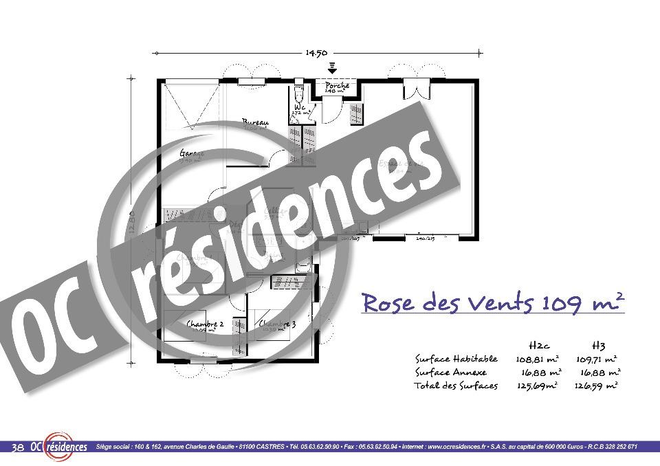 Maisons + Terrains du constructeur OC RESIDENCES • 109 m² • AMBRES