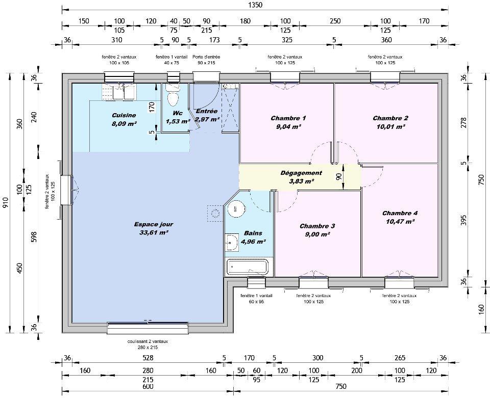 Maisons + Terrains du constructeur MAISONS FRANCE CONFORT • 93 m² • LAVEYRON
