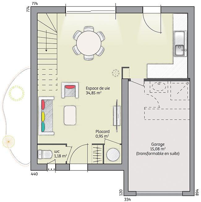 Maisons + Terrains du constructeur LES MAISONS DE MANON • 82 m² • CODOGNAN