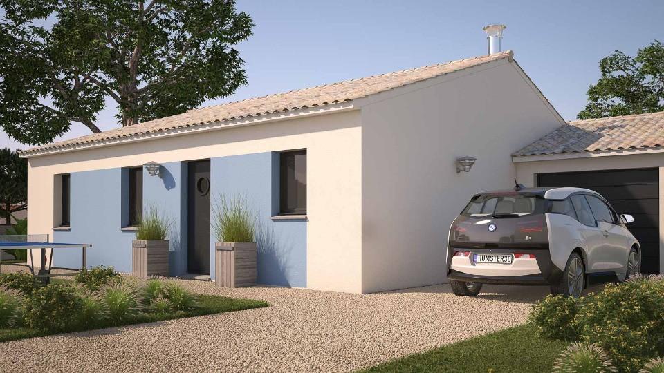 Maisons + Terrains du constructeur LES MAISONS DE MANON • 74 m² • JUNAS