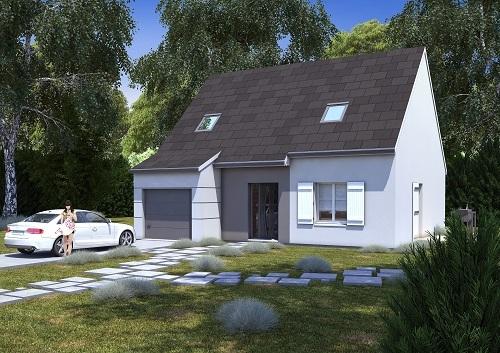 Maisons + Terrains du constructeur HABITAT CONCEPT • 98 m² • BOIS BERNARD