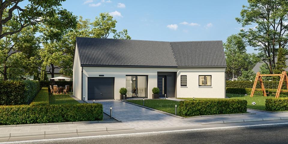 Maisons + Terrains du constructeur MAISONS FRANCE CONFORT • 90 m² • TILQUES
