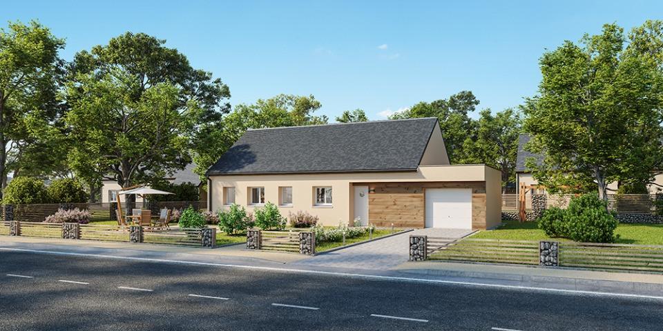 Maisons + Terrains du constructeur MAISONS FRANCE CONFORT • 90 m² • AFFRINGUES
