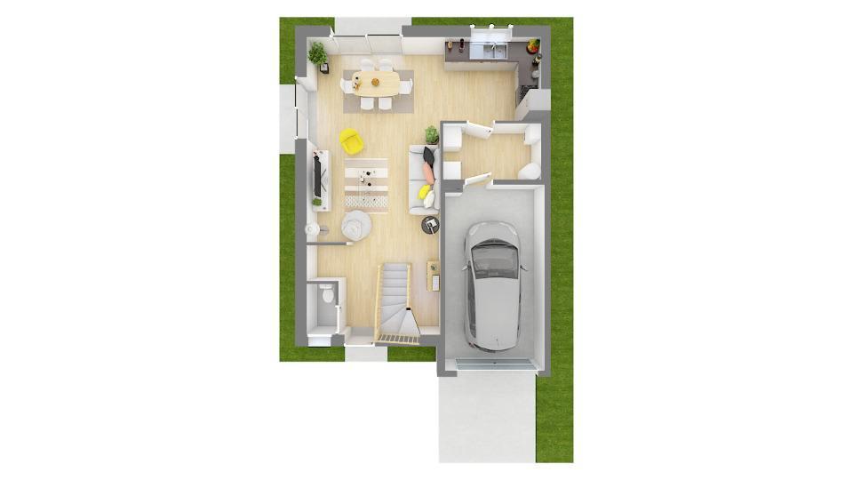 Maisons + Terrains du constructeur MAISON FRANCE CONFORT • 100 m² • SAINT PIERRE D'ALBIGNY
